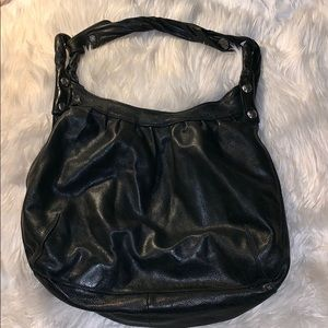 Black leather Lucky Brand bag